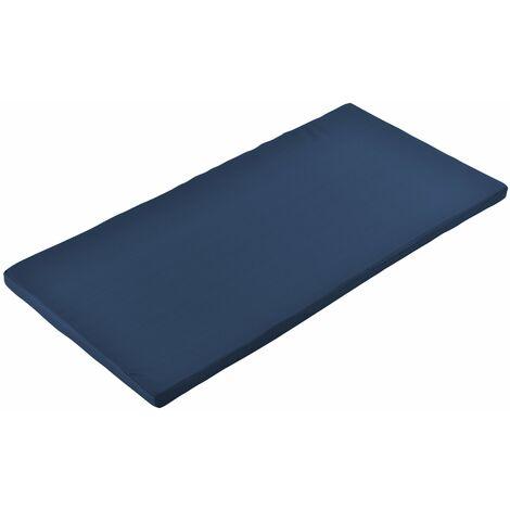 Coussin pour banc coussin de palette coussin d'assise pvc polyéthylène bleu foncé 100 x 48 x 4 cm - Bleu