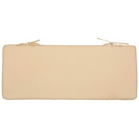 Coussin pour banc intérieur ou extérieur 98,5x39,5 cm beige - Beige