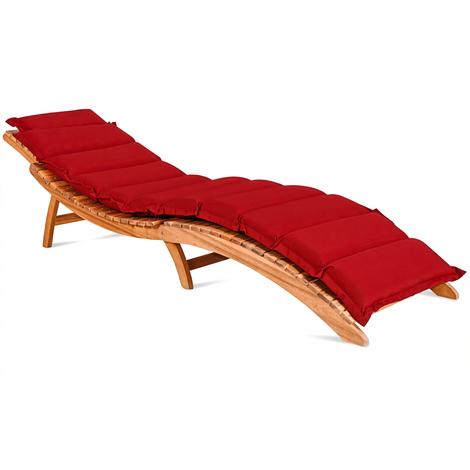 coussin pour chaise longue rouge rembourr 7cm. Black Bedroom Furniture Sets. Home Design Ideas