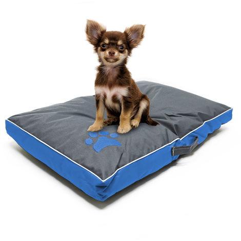 Coussin pour chien Lit Panier Corbeille Chat Animaux domestiques Lavable Étanche L Bleu 85x55x8cm