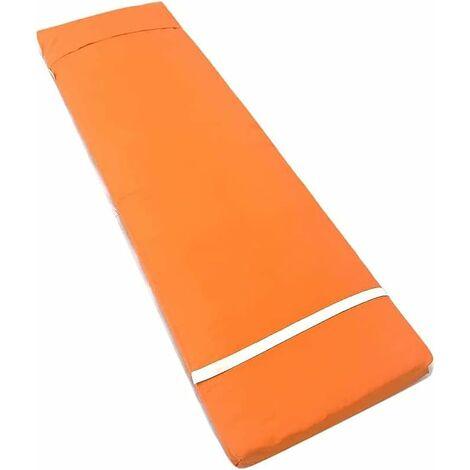 """main image of """"Coussin pour transat de Jardin extérieur, 180 x 55 x 8 cm Tapis pour Bain de Soleil , Coussin de Chaise Longue uni, Couverture de Tissu et Remplissage de Fibre (Orange, 1)"""""""