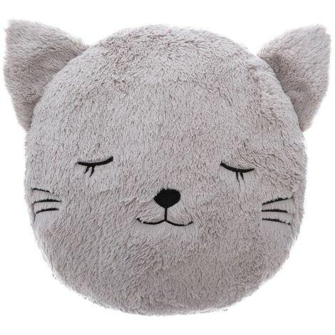 Coussin rond fur chat - Gris