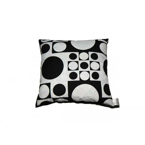 Coussin ''Ronds Noirs et Blancs' 40 x 40 cm