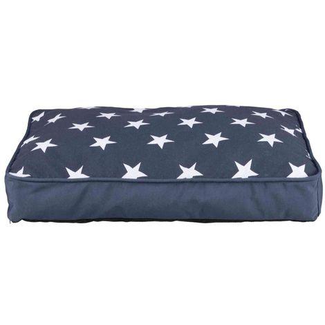 Coussin stars - 110 × 80 cm, bleu foncé