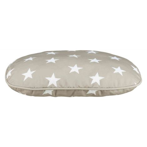 Coussin stars - 80 × 55 cm, taupe