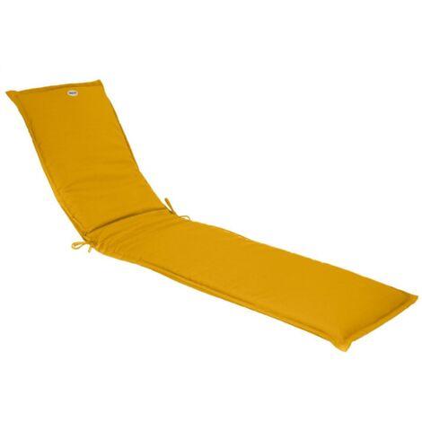 Coussin transat Korai 190 cm jaune moutarde Hespéride - Jaune moutarde