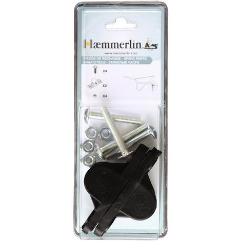 Coussinet de roue de brouette cormière Haemmerlin - Vendu par 2 - Noir