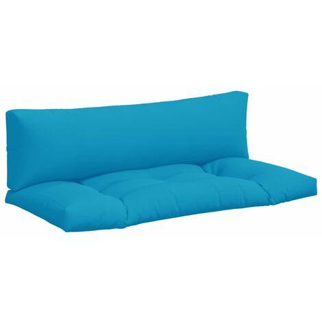 Coussins de canapé palette 2 pcs Bleu