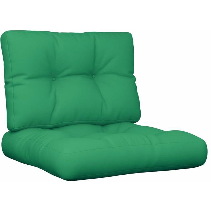 Coussins de canapé palette 2 pcs Vert