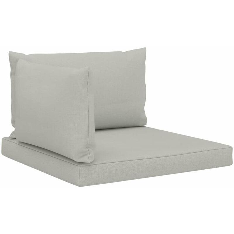 Coussins de canape palette 3 pcs Beige Tissu