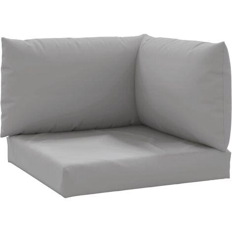 Coussins de canapé palette 3 pcs Gris Tissu