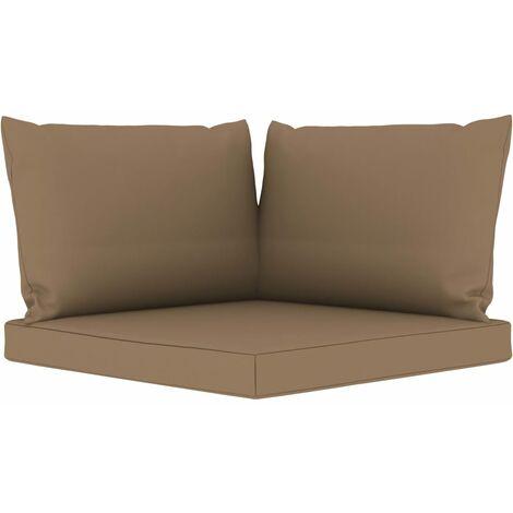 Coussins de canapé palette 3 pcs Taupe Tissu