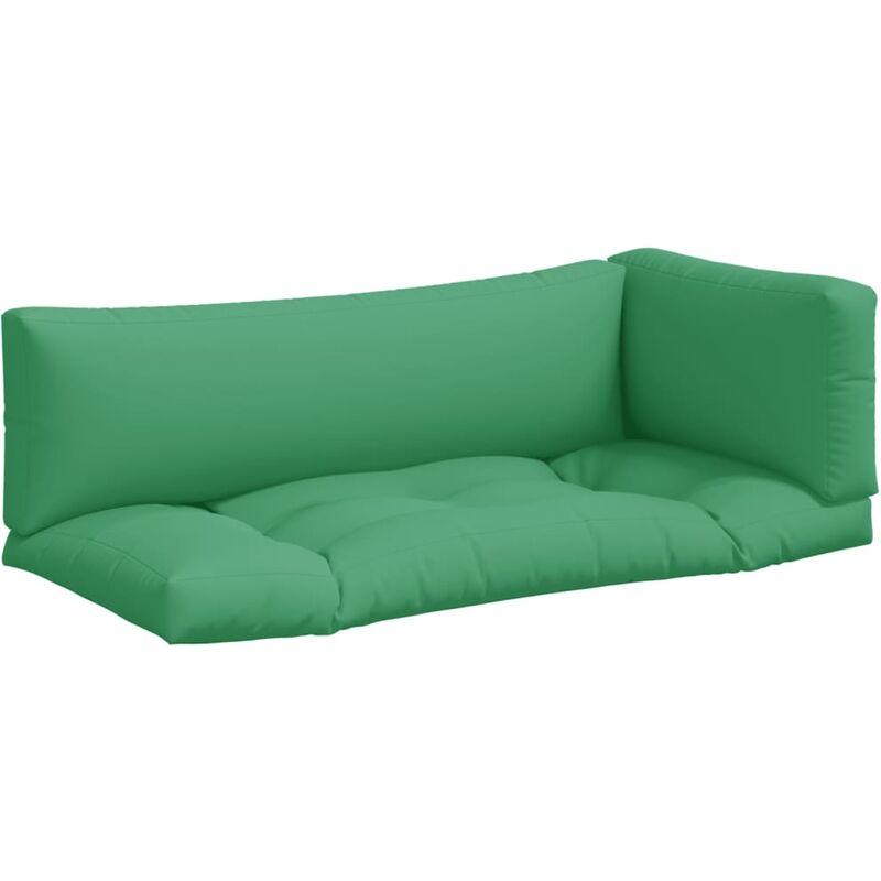 Coussins de canapé palette 3 pcs Vert