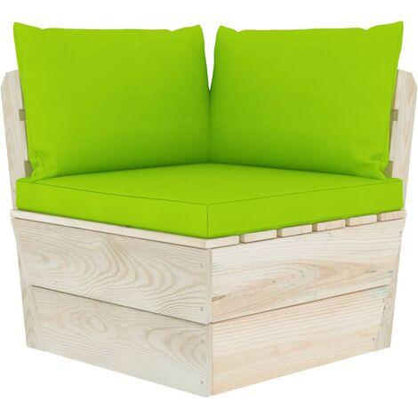 Coussins de canapé palette 3 pcs Vert vif Tissu