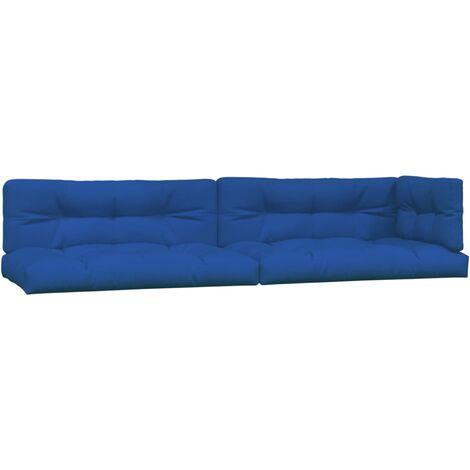 Coussins de canapé palette 5 pcs Bleu royal