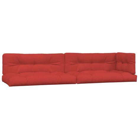 Coussins de canapé palette 5 pcs Rouge
