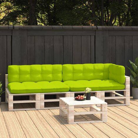 Coussins de canapé palette 5 pcs Vert vif