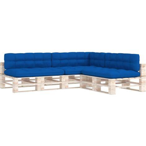 """main image of """"Coussins de canapé palette 7 pcs Bleu royal"""""""