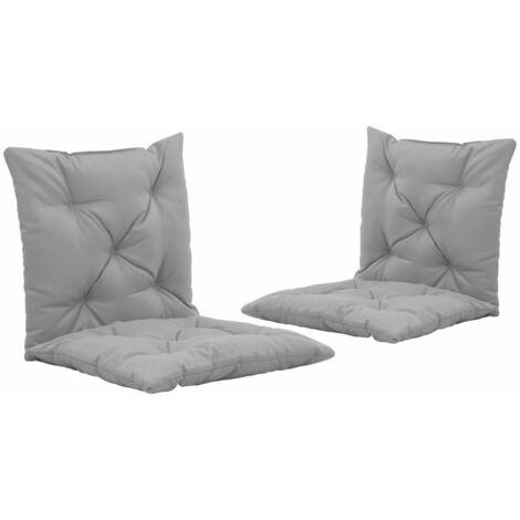 Coussins de chaise pivotante 2 pcs Gris 50 cm