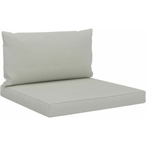 Coussins de sol canapé de palette en tissu beige dossier et assise - Beige