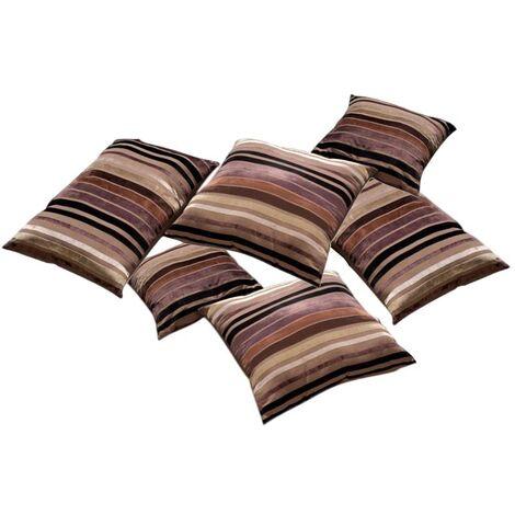 Coussins déhoussables Décor charme en coton (Lot de 6)