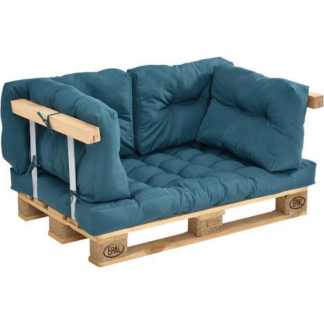 """main image of """"Coussins pour palettes - kit de 5 - coussin de siège + Coussins de dossier [turquoise] Canapé de palettes In/Outdoor"""""""