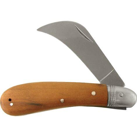 Couteau à bandes/plâtre Longueur 205 mm Longueur des lames 80 mm Forme des lames coudé manche en bois