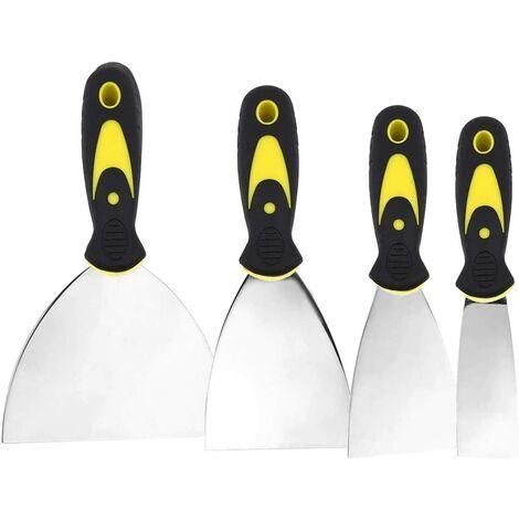 Couteau à enduire,spatule bricolage,Jeu de Spatules en Acier Inoxydable Couteau à Enduire 50, 75, 100, 150mm 4 Pièces