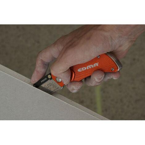 Couteau cutter pliable pro EDMA avec pochette - 60655