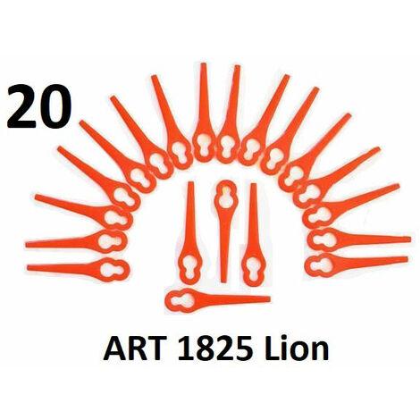 Couteau en plastique Grizzly 20, couteau de rechange pour coupe-herbe rechargeable Grizzly ART 1825 Lion