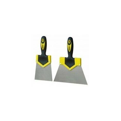 Couteau enduire bi-matiere 100mmett1-100s yellow/bla