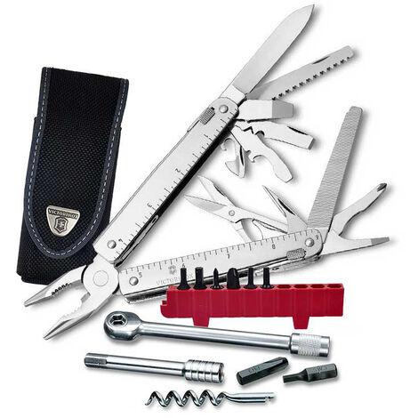 Couteau suisse multi-outils Victorinox SwissTool X Plus Ratchet 3.339.N avec 37 fonctions. Comprend une gaine en nylon