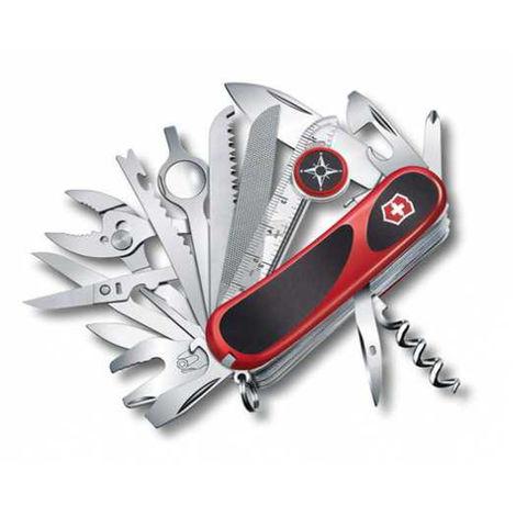 Couteau suisse Victorinox Evolution S54 Red/Black 2.53393.SC avec 31 fonctions dont une pince, un tournevis et une lime à ongles, avec lame verrouillable