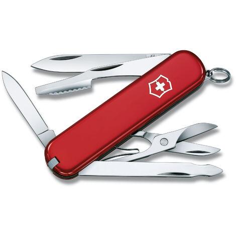 Couteau suisse Victorinox Executive, avec 10 fonctions, éplucheur d'orange, avec lime à ongles, 45 gr, manche en ABS Cellidor, au choix rouge ou noir.