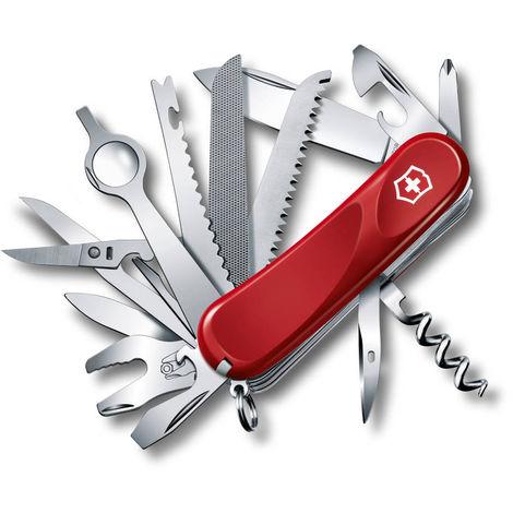 Couteau suisse Victorinox L'Evolution 28 avec 23 fonctions en rouge contient une loupe 2.5383.