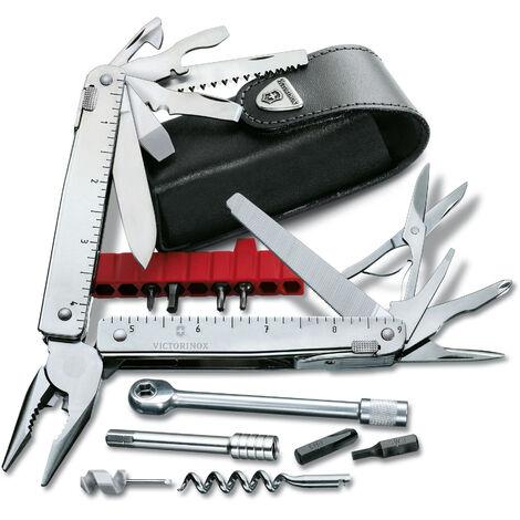Couteau suisse Victorinox SwissTool X Plus Ratchet avec 38 fonctions, avec étui en cuir, poids 290 gr, pratique et fonctionnel, 3.0339.L