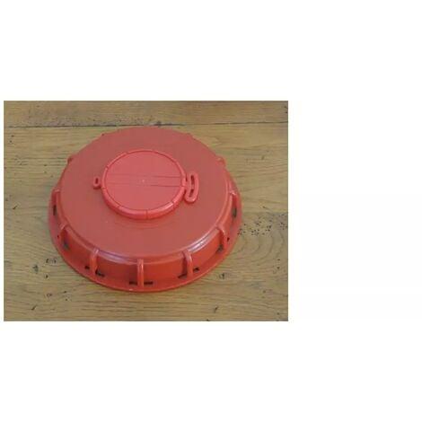Couvercle 15cm pour cuve 1000L avec ouverture centrale, couleur rouge
