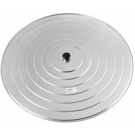 Couvercle à paella aluminium Ø 70 cm - Gris
