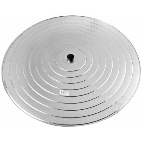 Couvercle à paella aluminium Ø 80 cm - Gris