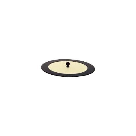 Couvercle beige pour panier à bûches en cuir
