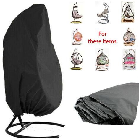Couvercle de chaise roulante suspendue de jardin - couverture de fauteuil d'oeufs étanche et suspendu