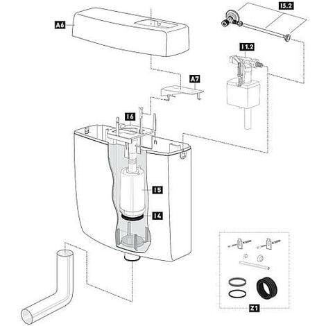 couvercle de chasse d'eau Schwab blanc avec touche de fonctionnalité 236918