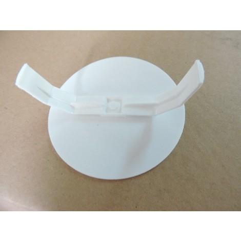 Couvercle de finition blanc Ø 65mm à pattes flexible pour boite d'encastrement Ø 60mm max SIB ADR P0221091