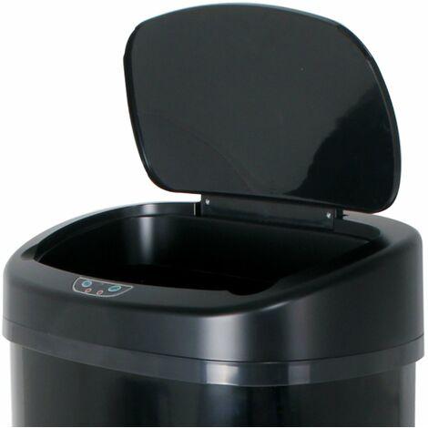 Couvercle de poubelle automatique MAJESTIC noir