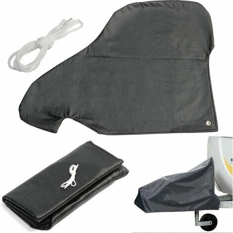 Couvercle de serrure d'accouplement d'attelage de remorquage de tailleur de caravane avec le protecteur imperméable de corde Anti UV noir