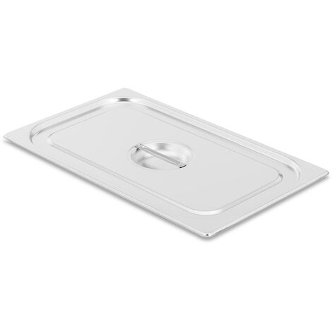 Couvercle Gn 1/1 Pour Bac Récipient Gastronorme Bain-Marie De 20 L Acier Inox
