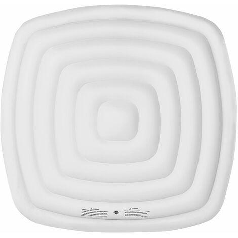 Couvercle gonflable isolant pour spa gonflable carré 6 places MSPA - Blanc