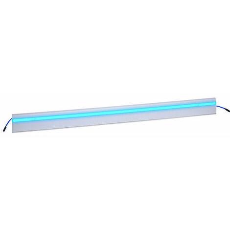 Couvercle Keva Led System pour moulure 80x12,5mm module Led bleu longueur 1m blanc Artic (11714)