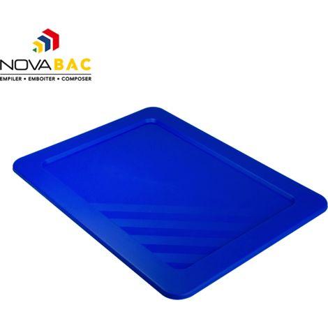 Couvercle Novabac 6 au 54L Bleu Roi - Novap