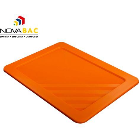 Couvercle Novabac 6 au 54L Orange Fluo - Novap